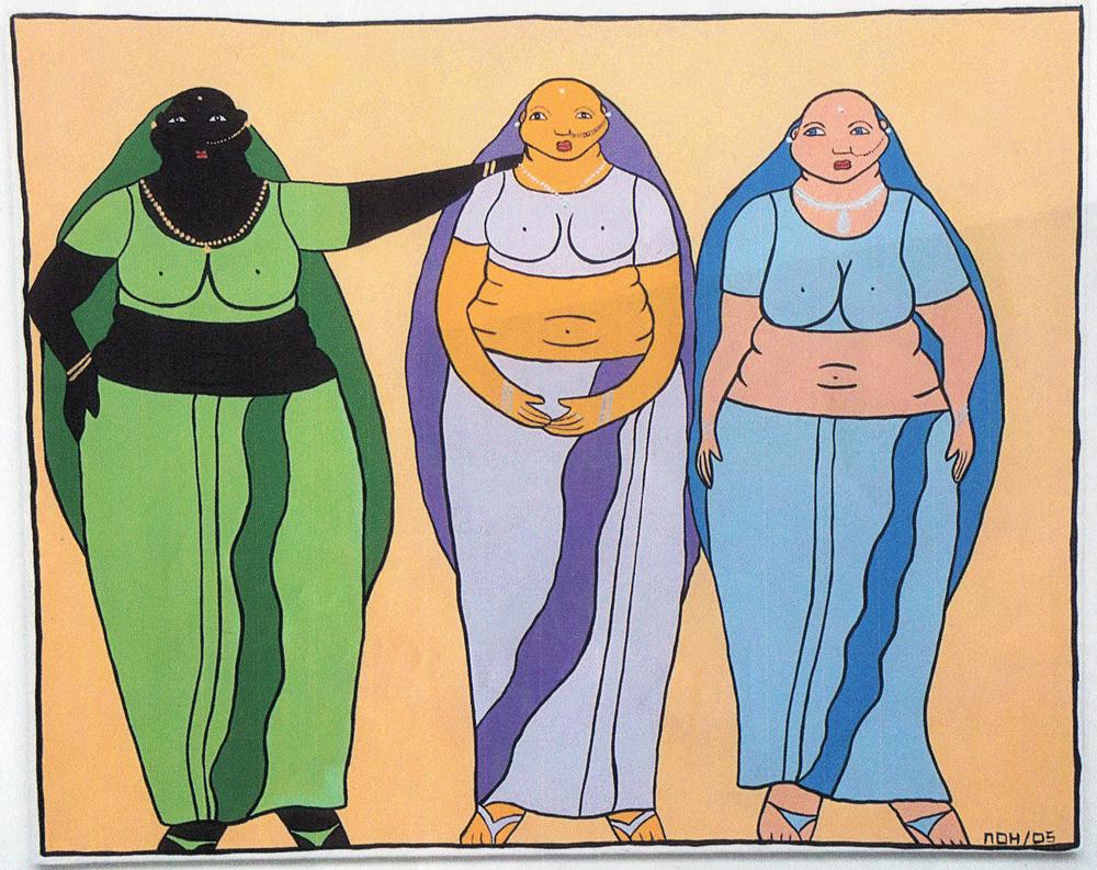Les 3 grâces Indiennes