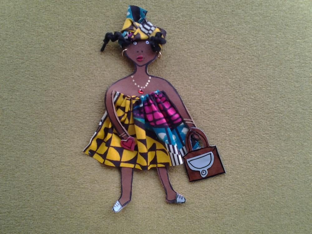 BROCHE FEMME AFRICAINE